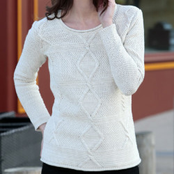 Out Of Ireland Twisted Round Collar Ecru Sweater