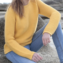 Out Of Ireland Yellow Round Collar Sweater