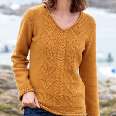 Out Of Ireland V Collar Mango Sweater