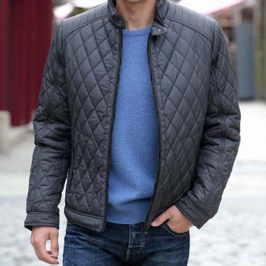 Out Of Ireland Grey Quilted Jacket