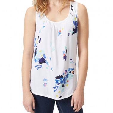 T-Shirt Sans Manches Imprimé Fleurs Tom Joule