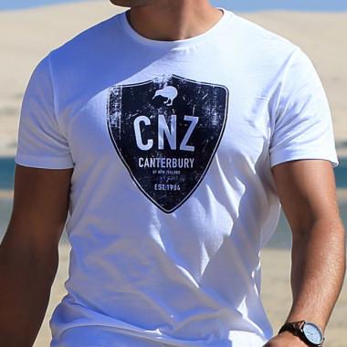 Tee shirt homme manches courtes tokoroa blanc cantebury