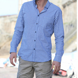 Chemise Vichy Bleue Out Of Ireland