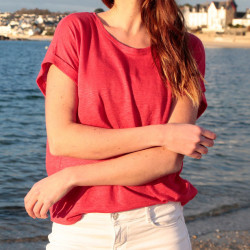 Out Of Ireland Linen Red T-Shirt