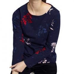 T-shirt Manches Longues Marine Motif Fleurs Tom Joule