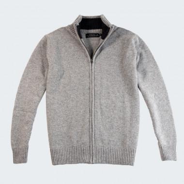 Celtic Alliance Extra Fine Wool Grey Zipped Jacket