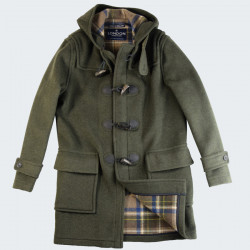 London Tradition Green Barry Duffle Coat