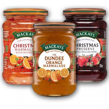 Assortment of 3 Mackays marmalades 3x340g