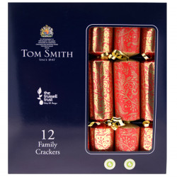 Party Crackers Family Red and Gold x12 Tom Smith