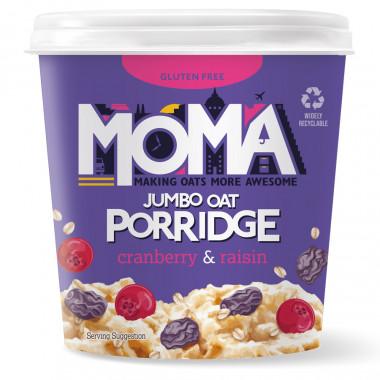Pot Porridge Canneberges & Raisins Secs Moma 70g