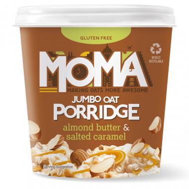 Moma Almond Butter & Salted Caramel Porrdige Pot 55g