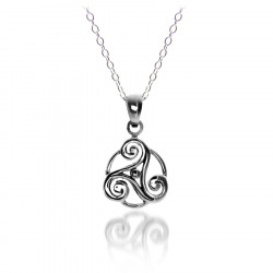 Silver Triskell Pendant