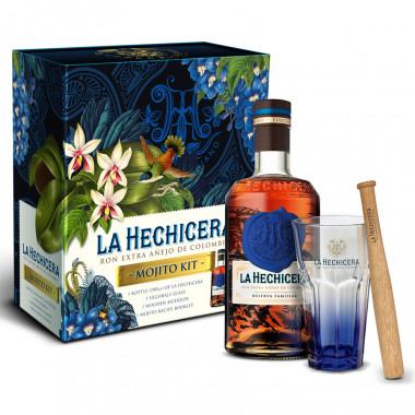 Rum La Hechicera 70cl 40° Mojito Box + 1 Glass