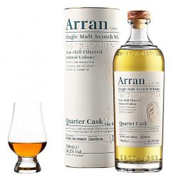 """Arran Quarter Cask """"The Bothy"""" 70cl 56.2° + 1 Glencairn Glass"""