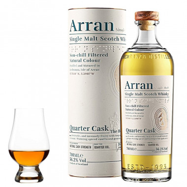 "Arran Malt Quarter Cask ""The Bothy"" 70cl 56.2° + 1 Verre Glencairn"
