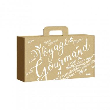 Gift Box Kraft White Voyage Gourmand Small Model