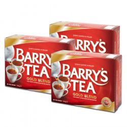 Pack 3 packs of Barry's Gold Blend tea 80 sachets 250g