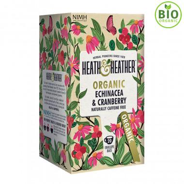 Heath & Heather Infusion Bio Echinacée Cranberry 20 sachets