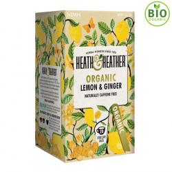 Heath & Heather Organic Herbal Tea Lemon & Ginger 20 Bags