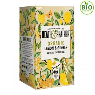 Heath & Heather Infusion Bio Citron Gingembre 20 Sachets