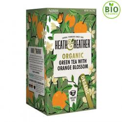 Heath & Heather Thé Vert Biologique Fleur d'Oranger 20 Sachets
