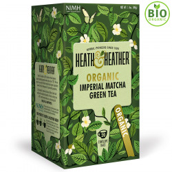 Heath & Heather Thé Vert Bio Imperial Matcha 20 Sachets 40g