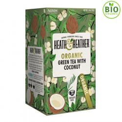 Heath & Heather Thé Vert Bio Noix de Coco 20 Sachets
