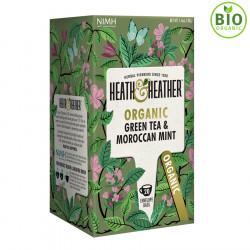 Heath & Heather Thé Vert Bio Menthe Marocaine 20 Sachets