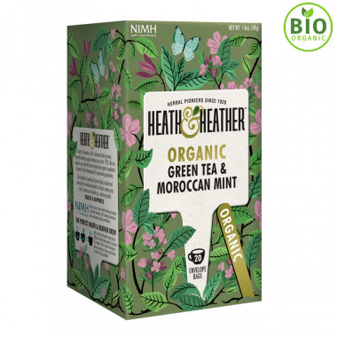 Heath & Heather Green Tea Moroccan Mint 20 Bags