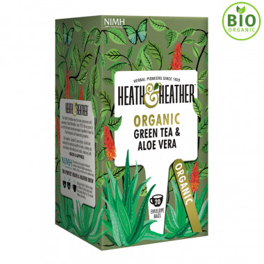 Heath & Heather Thé Vert Bio Aloe Vera 20 Sachets