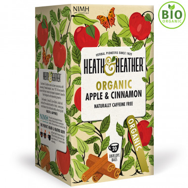 Heath & Heather Apple & Cinnamon Organic Infusion 40 Tea Bags 40g