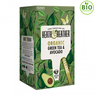 Heath & Heather Thé Vert Bio & Avocat 20 Sachets