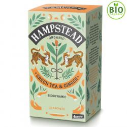 Thé Vert Bio Gingembre 20 Sachets Hampstead Tea