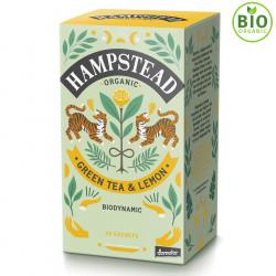 Thé Vert Bio Citron 20 Sachets Hampstead Tea