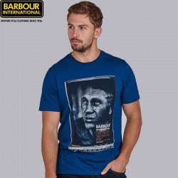 Tshirt homme manches courtes barbour international hero coloris dk petrol