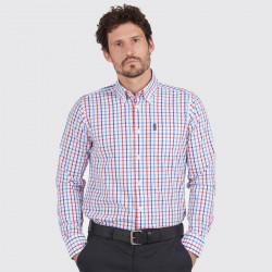 Chemise à Carreaux Tattersall Rouge et Bleu Barbour