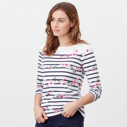 Tom Joule Printed Pink Flowers Harbour Striped Shirt