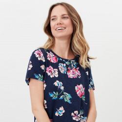 T-shirt Marine Imprimé Fleurs Tom Joule