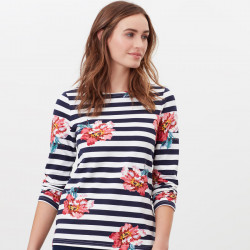 Tom Joule Navy and Flowers Harbour Striped Shirt