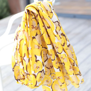 Out Of Ireland Pansies Dark Yellow Women's Stole