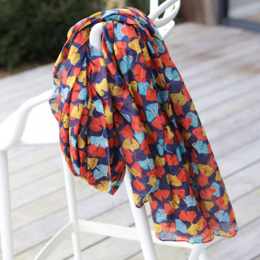 Out Of Ireland Women's Ginko Leaf Stole Multi Colour