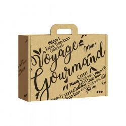Gift Box Kraft White Voyage Gourmand Large Model
