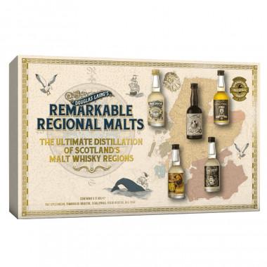 Coffret Remarkable Regional Malts 5x5cl 46.4°