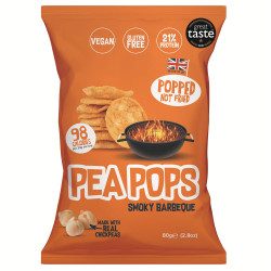 Pea Pops Chickpeas Chips Smoky Barbecue 80g