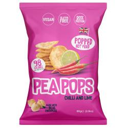 Chips Pois Chiches Piment Citron Vert Pea Pops 80g