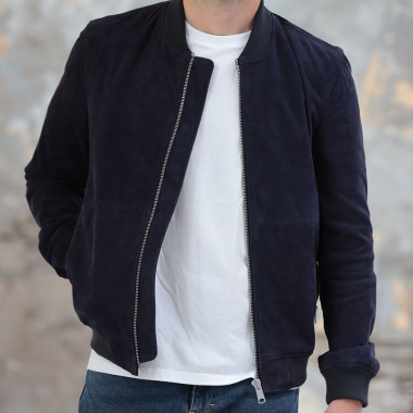 Out Of Ireland Navy Leather Jacket