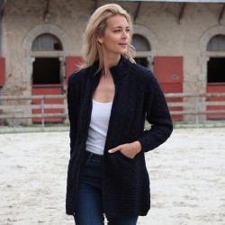 Inis Crafts Navy Zipped Vest