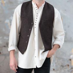 Emerald Isle Weaving Brown Tweed Waiscoat