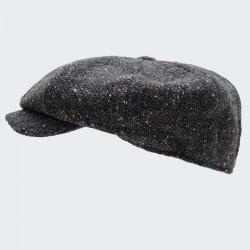 Casquette irlandaise 8 pans gris h20 hanna hats