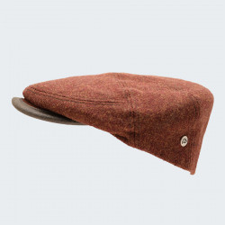 Celtic Alliance Rust Tweed Cap with Side Placket